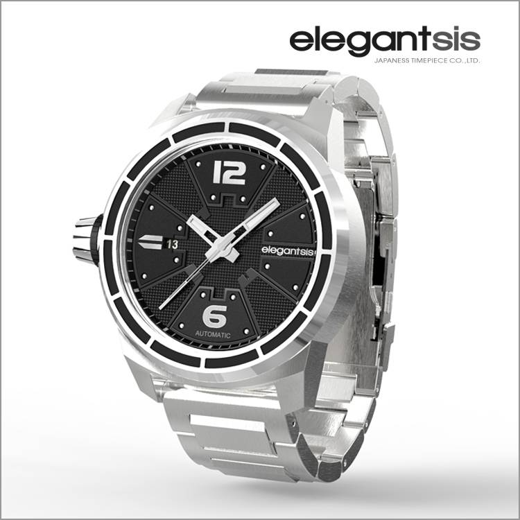 Elegantsis Fighter Jet Automatic Watch/Stainless Steel Polsband Steel/Frame Steel/JF48A-8B01MA