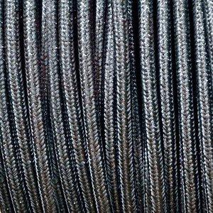Murray Textielsnoer -glanzend grijs-