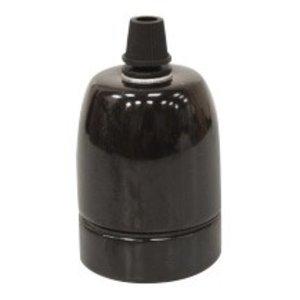 Murray Fitting porselein E27 -zwart-