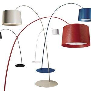 Foscarini Vloerlamp TWIGGY Led -blauw-