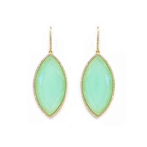 MELANIE AULD PAVE MARQUISE EARRINGS IN CHALCEDONY