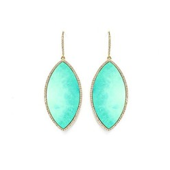 PAVE MARQUISE EARRINGS IN TURQUISE