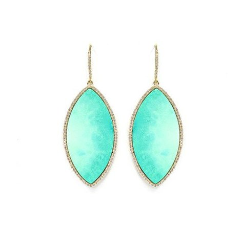 MELANIE AULD PAVE MARQUISE EARRINGS IN TURQUISE