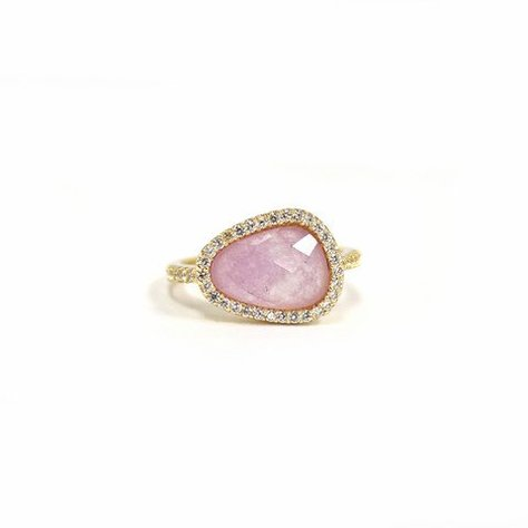 MELANIE AULD PAVE NATURAL RING IN LAVENDER JADE