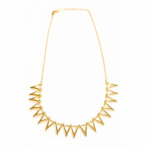 MELANIE AULD TRIANGLE SILHOUETTE COLLAR IN GOLD