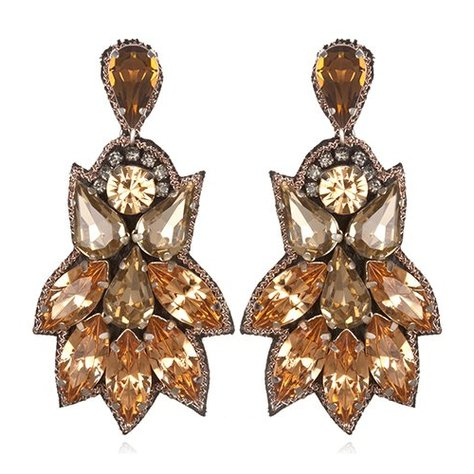 SUZANNA DAI PEACOCK FAN DROP EARRINGS