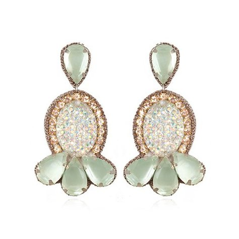 SUZANNA DAI FAUX DRUZY SMALL DROP EARRINGS
