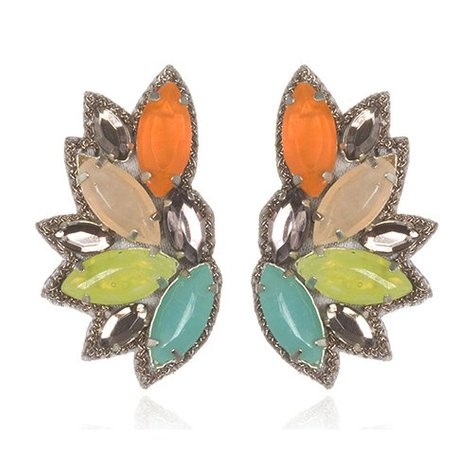SUZANNA DAI RIO DE JANIERO BUTTON EARRINGS IN CITRUS