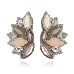 RIO DE JANIERO BUTTON EARRINGS IN BLUSH