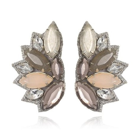 SUZANNA DAI RIO DE JANIERO BUTTON EARRINGS IN BLUSH