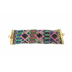 WIDE FRIENDSHIP BRACELET IN GREEN