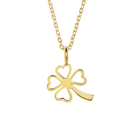 SAMANTHA FAY CLOVER NECKLACE IN GOLD