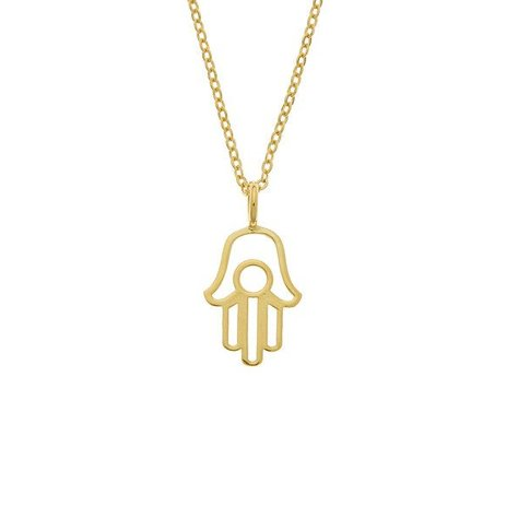 SAMANTHA FAY HAMSA NECKLACE IN GOLD