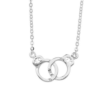 SAMANTHA FAY HANDCUFFS NECKLACE IN SILVER