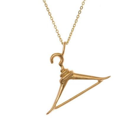 SAMANTHA FAY HANGER NECKLACE IN GOLD