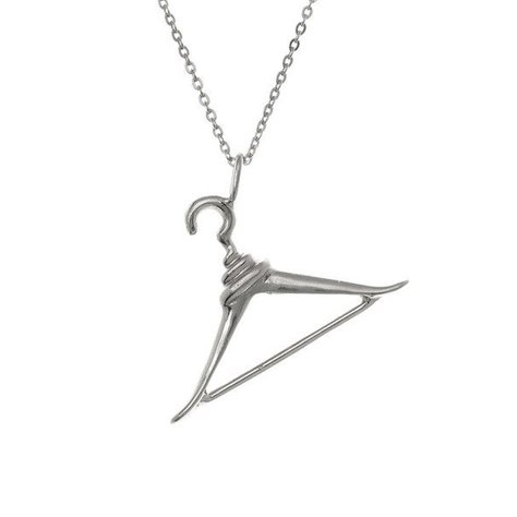 SAMANTHA FAY HANGER NECKLACE IN SILVER