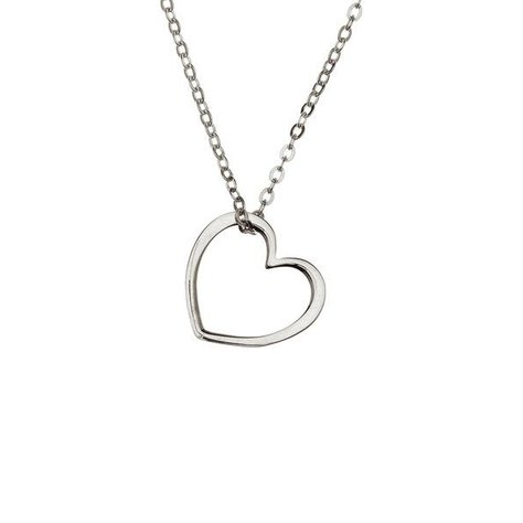 SAMANTHA FAY HEART NECKLACE IN SILVER