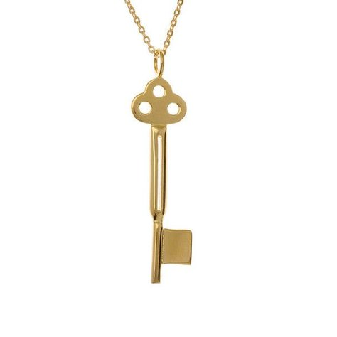 SAMANTHA FAY KEY NECKLACE IN GOLD