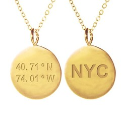 NEW YORK NECKLACE IN GOLD