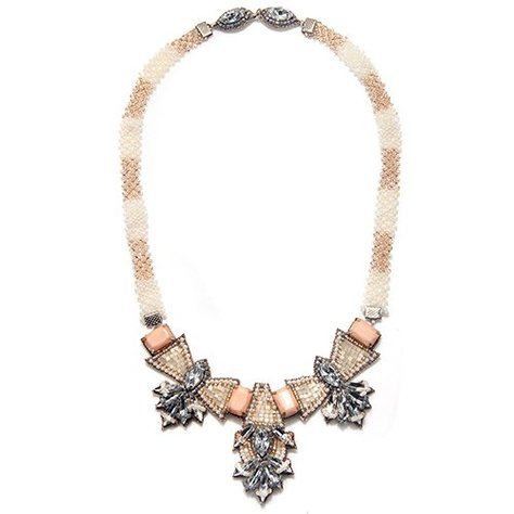 SUZANNA DAI BARSELOI NECKLACE IN IVORY/BLUSH