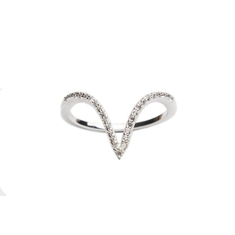 ALEX MIKA V RING IN WHITE GOLD