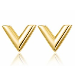 GOLD V  TRIANGLE EARRINGS