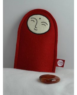 Jizo with Wishing Stone – Carnelian