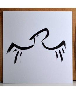 Sumi-e met scroll: 'Vergeet en je zult vrij zijn. Vergeef en je zult vrijer zijn'.