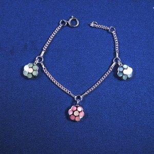 """Bedelarmbandje zilver """"bloem"""" 11-13cm"""