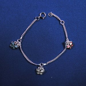 """Bedelarmbandje zilver """"vlinder"""" parelmoer, 13-15cm"""