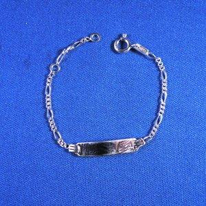 Plaatarmbandje zilver 11-13cm