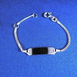 Plaatarmbandje zilver 9-11cm