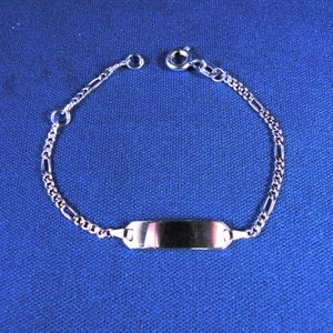 Plaatarmbandje zilver 11-13 cm