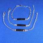 Plaatarmbandje zilver 13-15cm