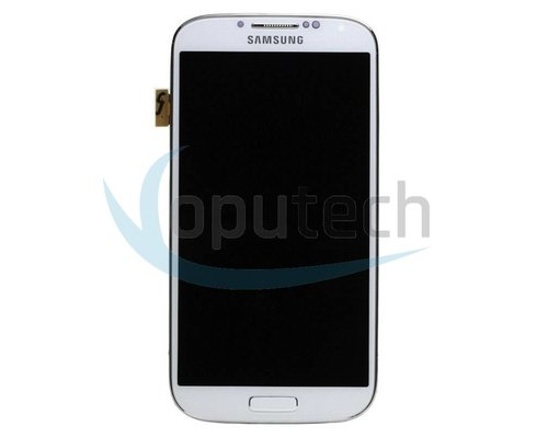 Samsung Galaxy S4 GT-I9500 LCD Screen with Frame White