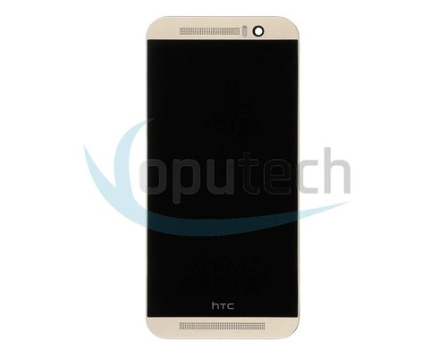 HTC One M9 LCD Screen with Frame Gold