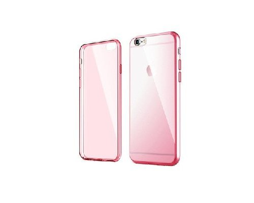 iPhone 6/6s Case Transparant/Roze