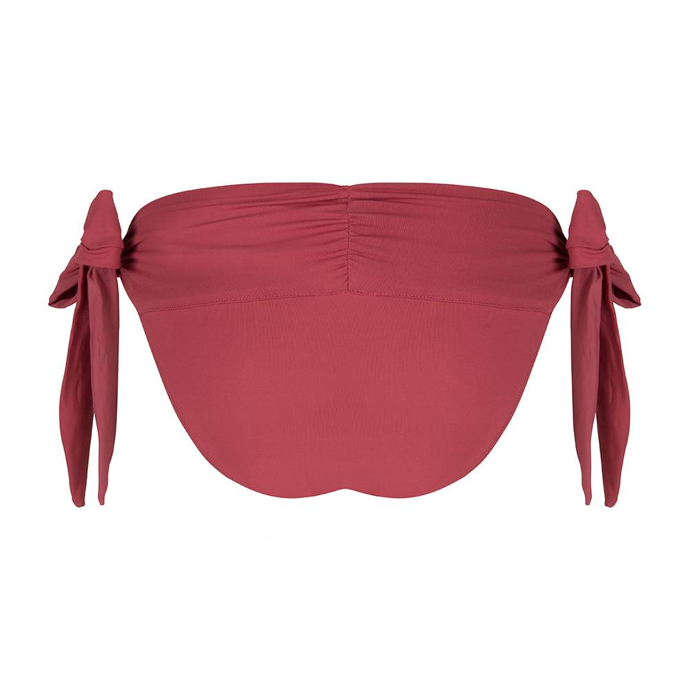 BOHO Bikini Bottum Uni - Burgundy