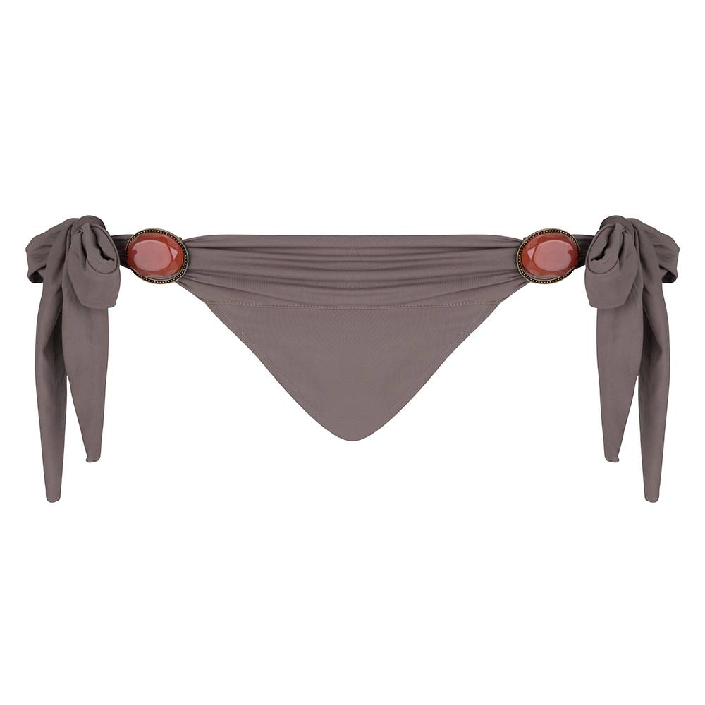 BOHO Bikini Bottum Uni - Taupe