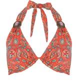 BOHO Bikini Top Triangel Brace - Coral