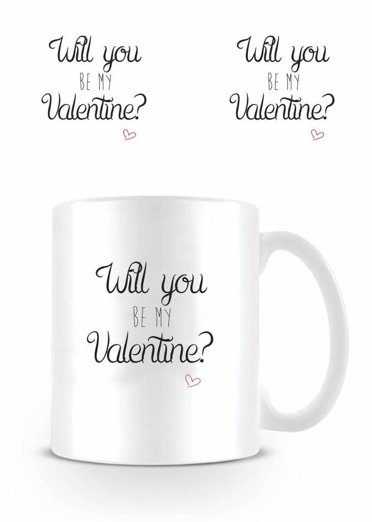 Will You Be My Valentine Valentijn Mok Merchandisehousenl