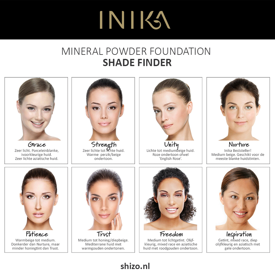 Inika Foundation Shade Finder