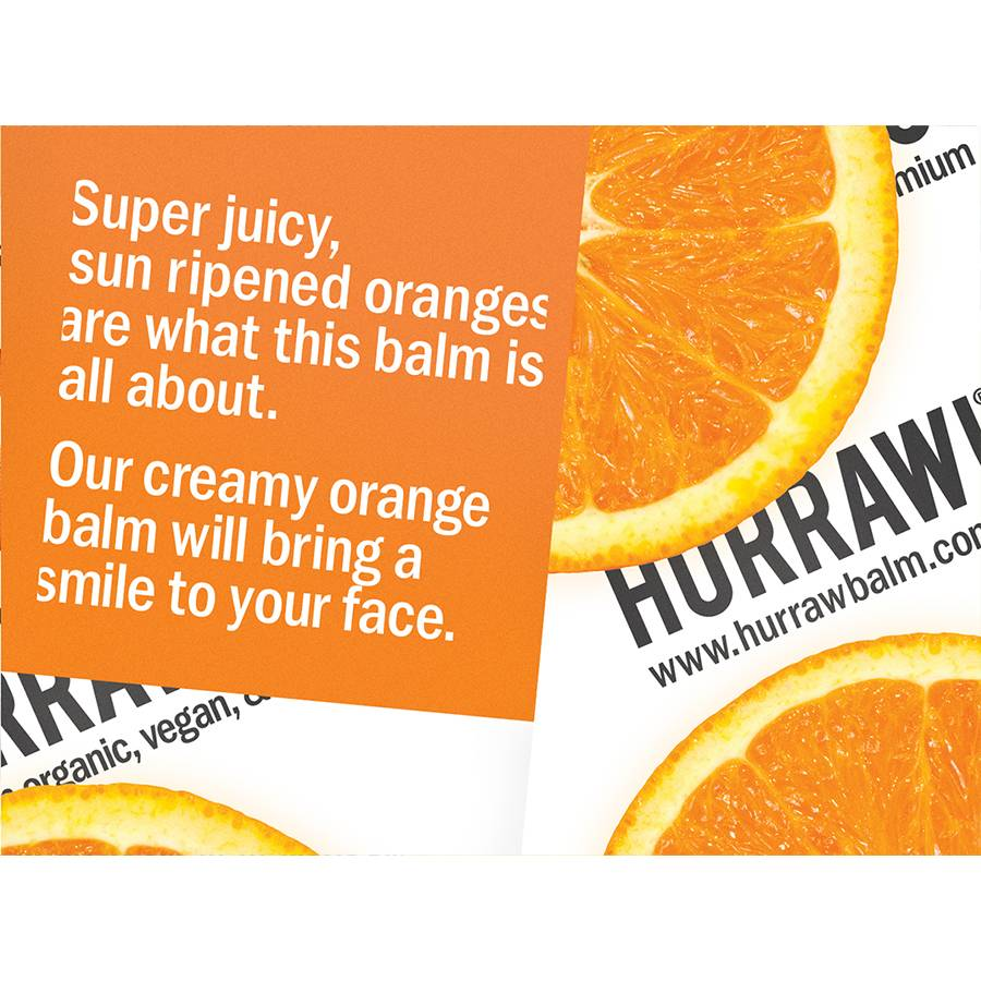 Hurraw! Orange Organic Lip Balm