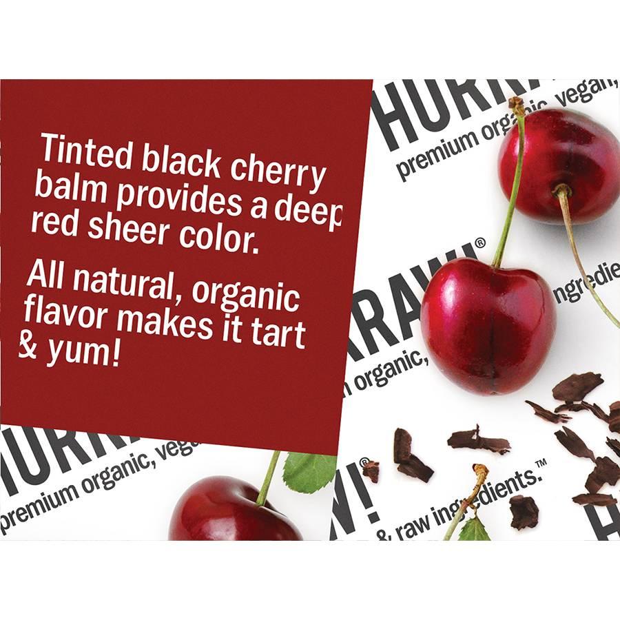 Hurraw! Black Cherry Tinted Organic Lip Balm