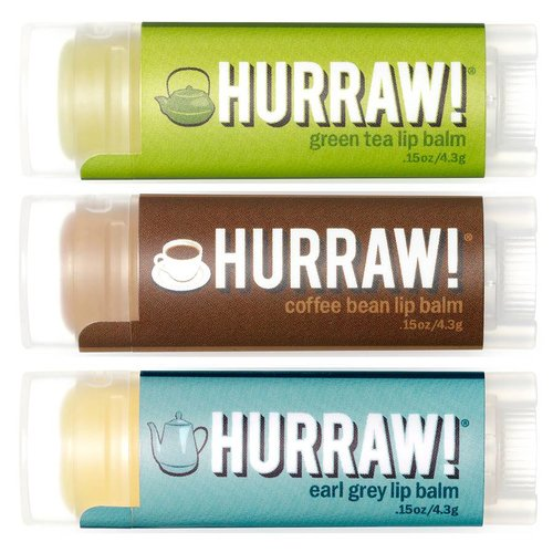 Hurraw! Hurraw! Hot Beverage Lip Balm Voordeel Trio