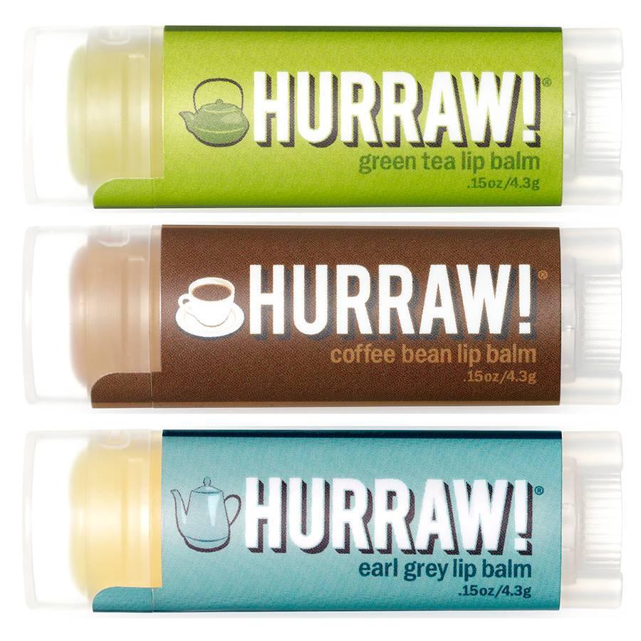 Hurraw! Hurraw! Hot Beverage Lip Balm Voordeel Trio
