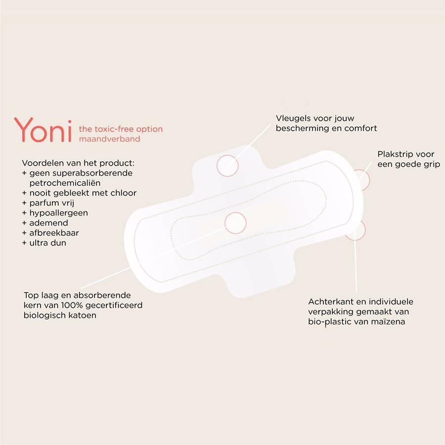 Yoni Maandverband Biologische Katoen Medium