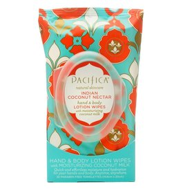 Pacifica Hand & Body Lotion Wipes Indian Coconut Nectar