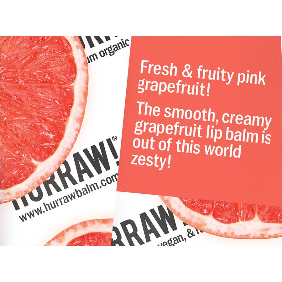Hurraw! Grapefruit Organic Lip Balm