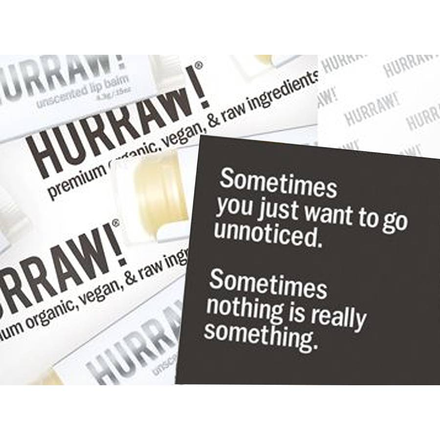 Hurraw! Unscented Organic Lip Balm